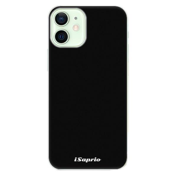 Odolné silikonové pouzdro iSaprio - 4Pure - černý - iPhone 12