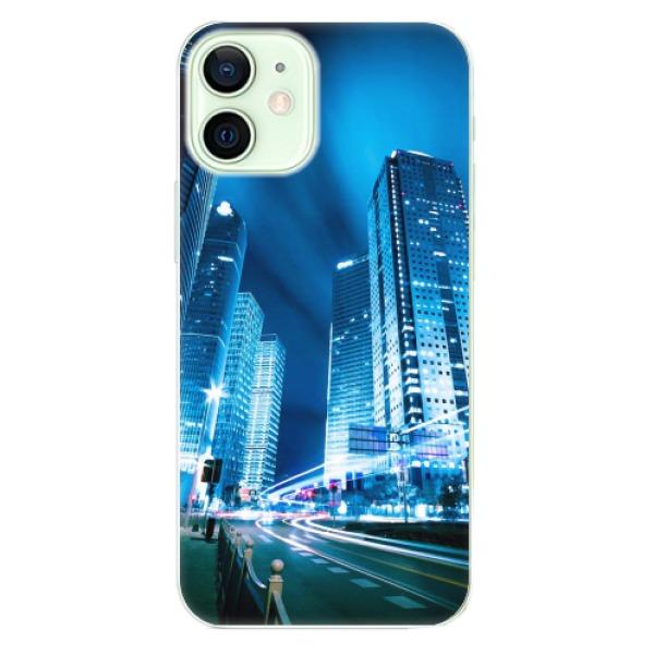 Odolné silikonové pouzdro iSaprio - Night City Blue - iPhone 12