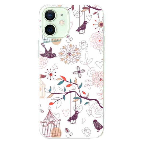 Odolné silikonové pouzdro iSaprio - Birds - iPhone 12