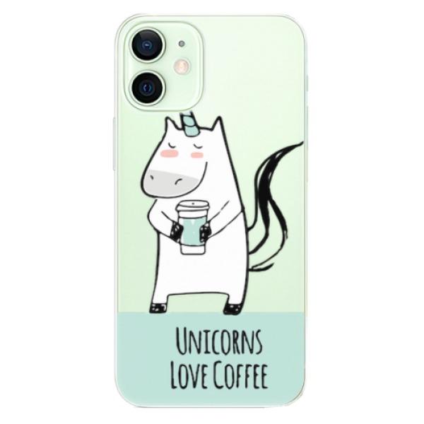 Odolné silikonové pouzdro iSaprio - Unicorns Love Coffee - iPhone 12