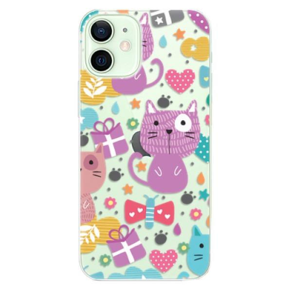Odolné silikonové pouzdro iSaprio - Cat pattern 01 - iPhone 12