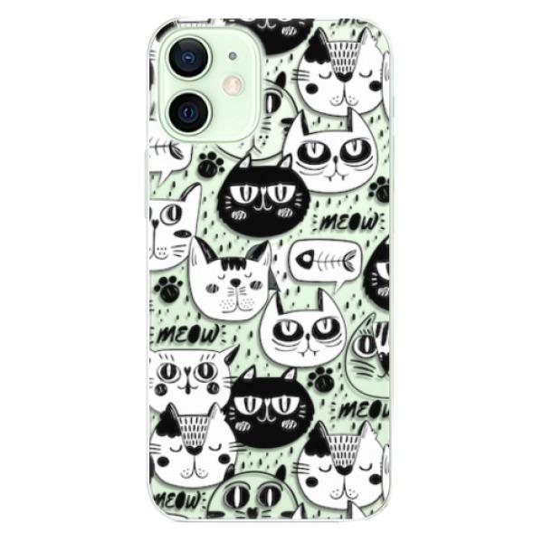 Odolné silikonové pouzdro iSaprio - Cat pattern 03 - iPhone 12