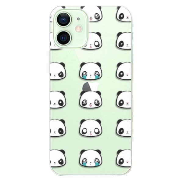Odolné silikonové pouzdro iSaprio - Panda pattern 01 - iPhone 12