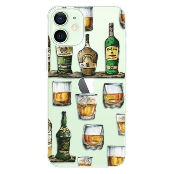 Odolné silikonové pouzdro iSaprio - Whisky pattern - iPhone 12