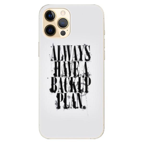 Odolné silikonové pouzdro iSaprio - Backup Plan - iPhone 12 Pro