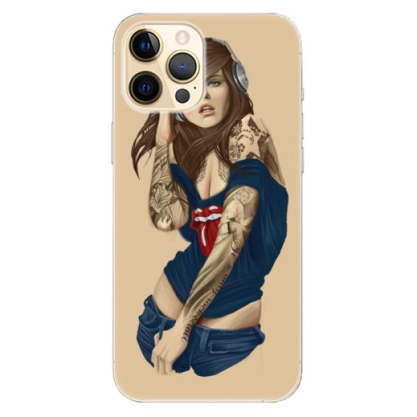 Odolné silikonové pouzdro iSaprio - Girl 03 - iPhone 12 Pro
