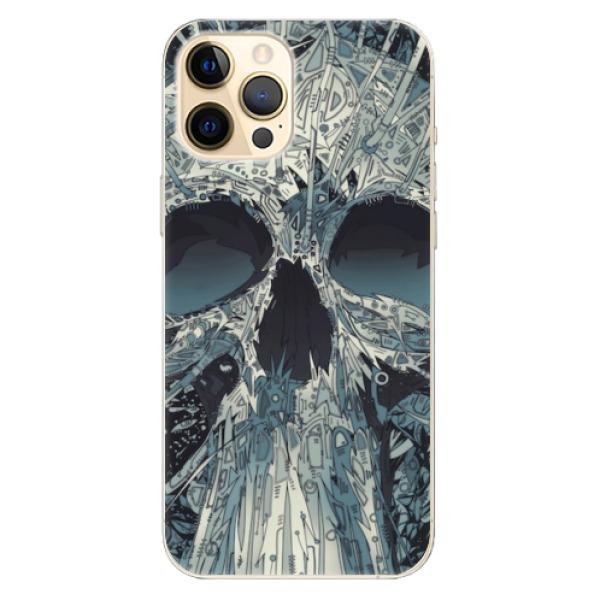 Odolné silikonové pouzdro iSaprio - Abstract Skull - iPhone 12 Pro