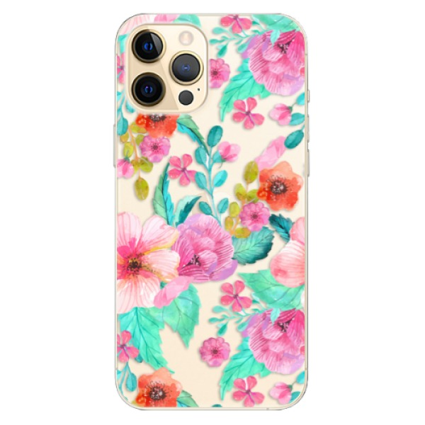 Odolné silikonové pouzdro iSaprio - Flower Pattern 01 - iPhone 12 Pro
