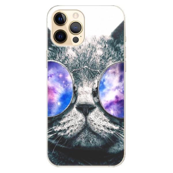 Odolné silikonové pouzdro iSaprio - Galaxy Cat - iPhone 12 Pro