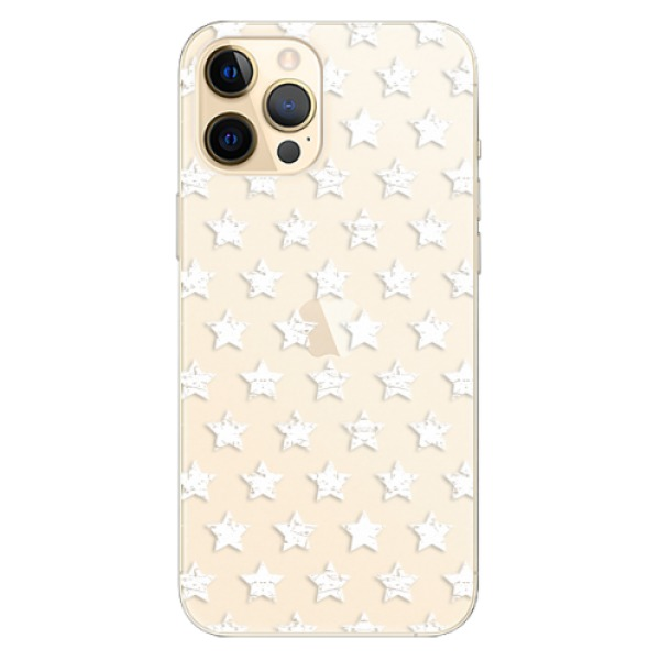 Odolné silikonové pouzdro iSaprio - Stars Pattern - white - iPhone 12 Pro