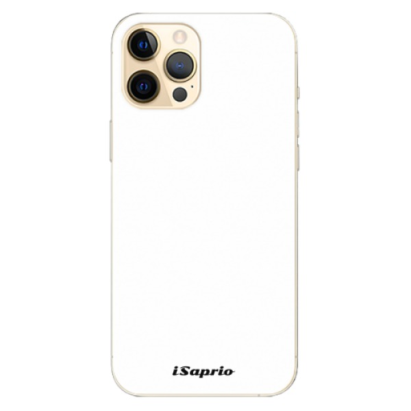 Odolné silikonové pouzdro iSaprio - 4Pure - bílý - iPhone 12 Pro