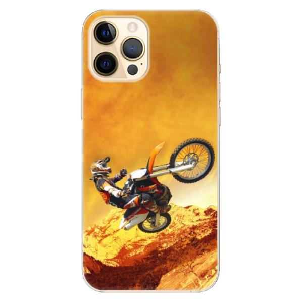 Odolné silikonové pouzdro iSaprio - Motocross - iPhone 12 Pro