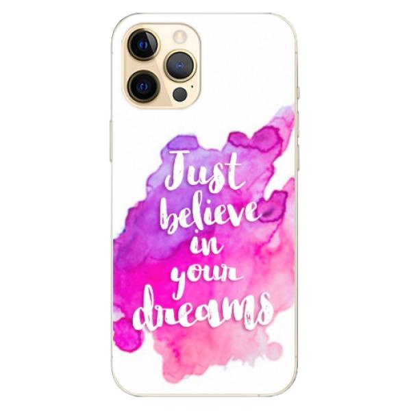 Odolné silikonové pouzdro iSaprio - Believe - iPhone 12 Pro