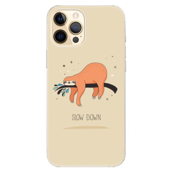 Odolné silikonové pouzdro iSaprio - Slow Down - iPhone 12 Pro