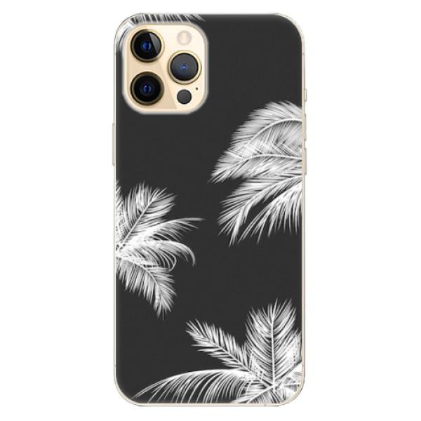 Odolné silikonové pouzdro iSaprio - White Palm - iPhone 12 Pro