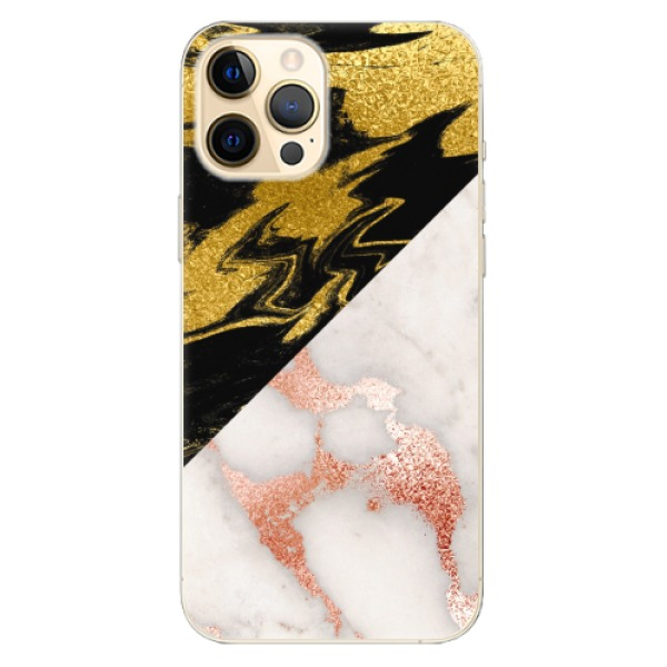 Odolné silikonové pouzdro iSaprio - Shining Marble - iPhone 12 Pro
