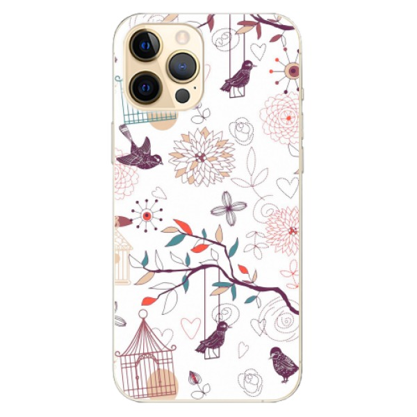 Odolné silikonové pouzdro iSaprio - Birds - iPhone 12 Pro