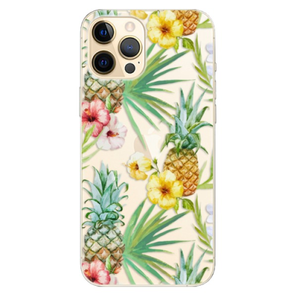 Odolné silikonové pouzdro iSaprio - Pineapple Pattern 02 - iPhone 12 Pro