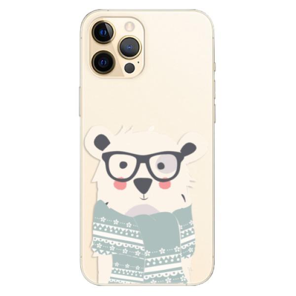 Odolné silikonové pouzdro iSaprio - Bear with Scarf - iPhone 12 Pro