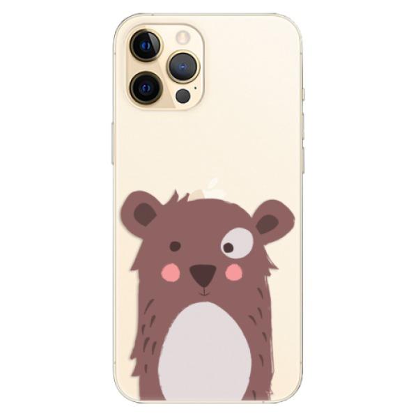 Odolné silikonové pouzdro iSaprio - Brown Bear - iPhone 12 Pro