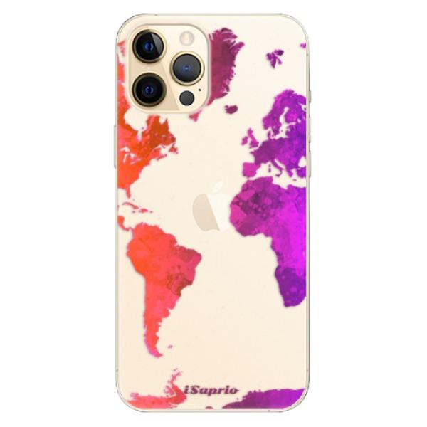 Odolné silikonové pouzdro iSaprio - Warm Map - iPhone 12 Pro