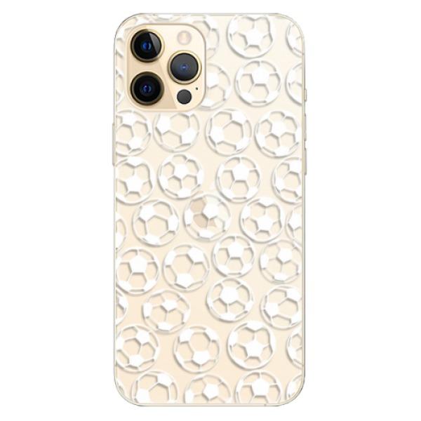 Odolné silikonové pouzdro iSaprio - Football pattern - white - iPhone 12 Pro