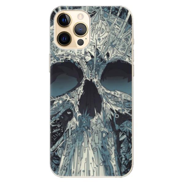 Odolné silikonové pouzdro iSaprio - Abstract Skull - iPhone 12 Pro Max