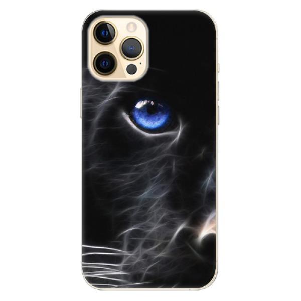 Odolné silikonové pouzdro iSaprio - Black Puma - iPhone 12 Pro Max