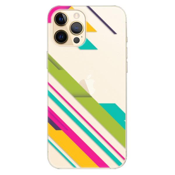 Odolné silikonové pouzdro iSaprio - Color Stripes 03 - iPhone 12 Pro Max