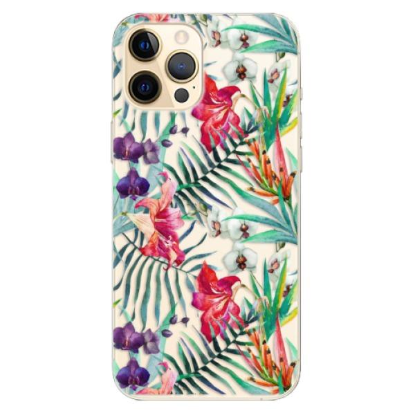 Odolné silikonové pouzdro iSaprio - Flower Pattern 03 - iPhone 12 Pro Max