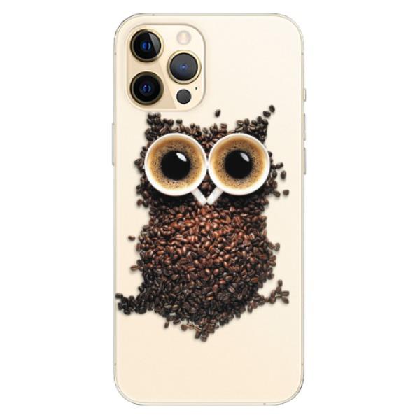 Odolné silikonové pouzdro iSaprio - Owl And Coffee - iPhone 12 Pro Max