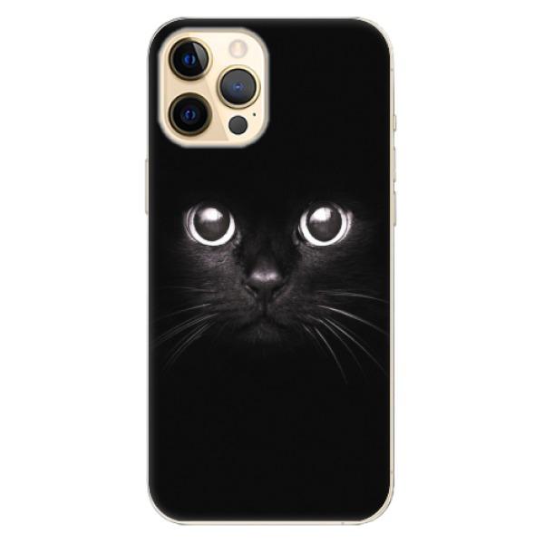 Odolné silikonové pouzdro iSaprio - Black Cat - iPhone 12 Pro Max