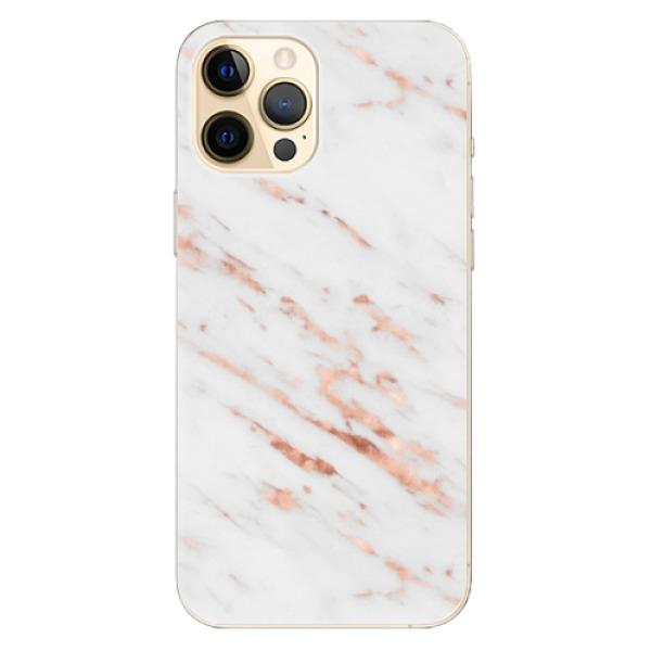Odolné silikonové pouzdro iSaprio - Rose Gold Marble - iPhone 12 Pro Max