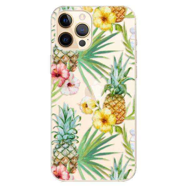 Odolné silikonové pouzdro iSaprio - Pineapple Pattern 02 - iPhone 12 Pro Max