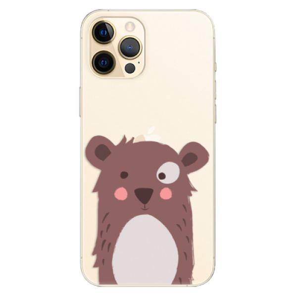 Odolné silikonové pouzdro iSaprio - Brown Bear - iPhone 12 Pro Max