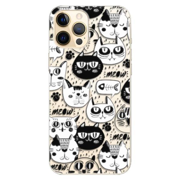Odolné silikonové pouzdro iSaprio - Cat pattern 03 - iPhone 12 Pro Max