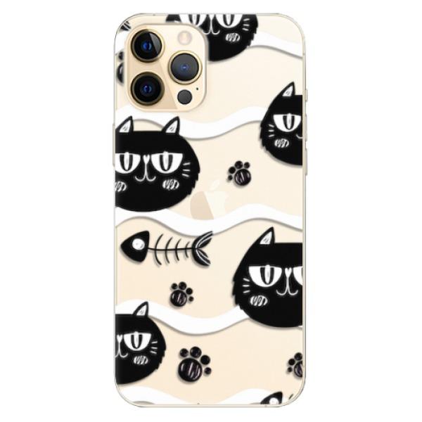 Odolné silikonové pouzdro iSaprio - Cat pattern 04 - iPhone 12 Pro Max
