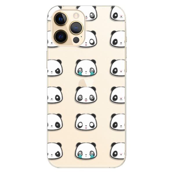 Odolné silikonové pouzdro iSaprio - Panda pattern 01 - iPhone 12 Pro Max