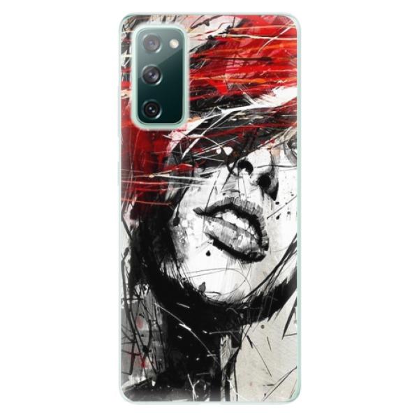 Odolné silikonové pouzdro iSaprio - Sketch Face - Samsung Galaxy S20 FE