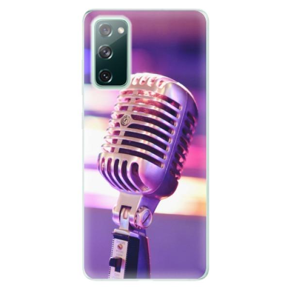 Odolné silikonové pouzdro iSaprio - Vintage Microphone - Samsung Galaxy S20 FE