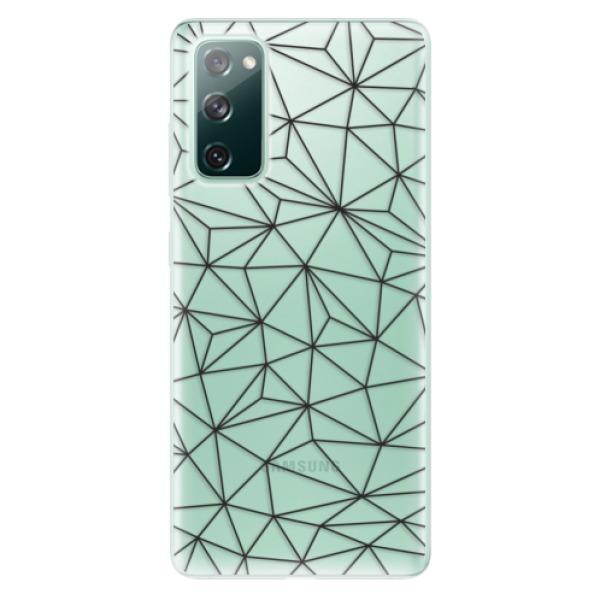 Odolné silikonové pouzdro iSaprio - Abstract Triangles 03 - black - Samsung Galaxy S20 FE