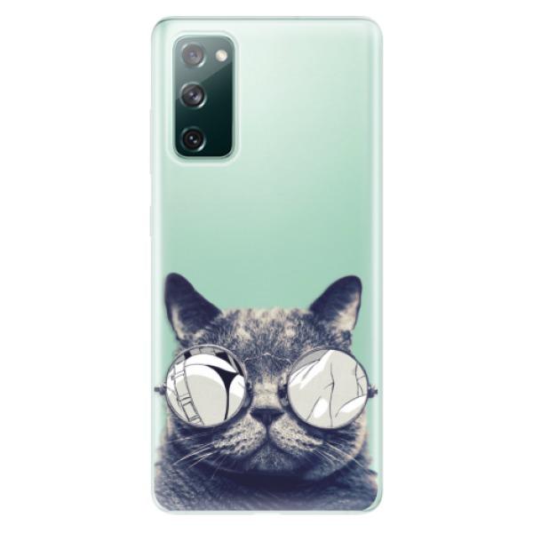 Odolné silikonové pouzdro iSaprio - Crazy Cat 01 - Samsung Galaxy S20 FE