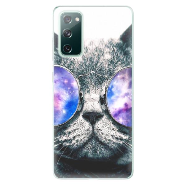 Odolné silikonové pouzdro iSaprio - Galaxy Cat - Samsung Galaxy S20 FE