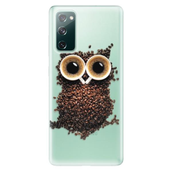 Odolné silikonové pouzdro iSaprio - Owl And Coffee - Samsung Galaxy S20 FE