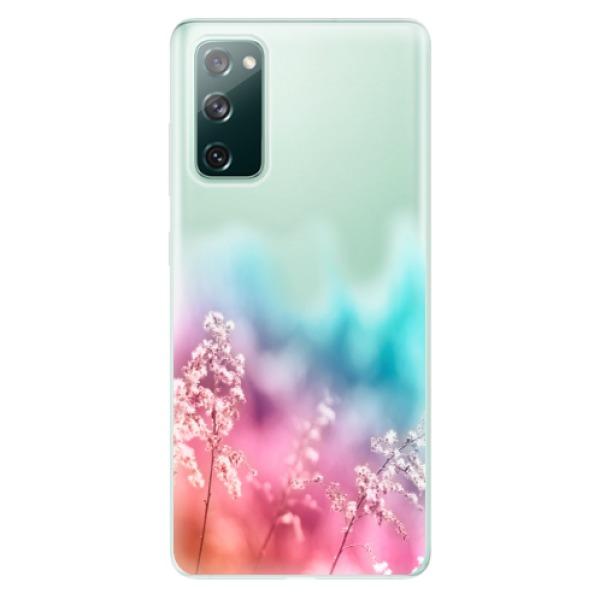 Odolné silikonové pouzdro iSaprio - Rainbow Grass - Samsung Galaxy S20 FE