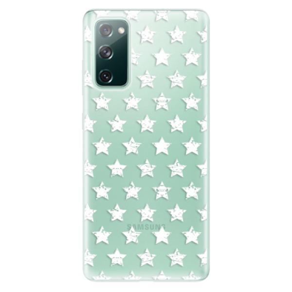 Odolné silikonové pouzdro iSaprio - Stars Pattern - white - Samsung Galaxy S20 FE