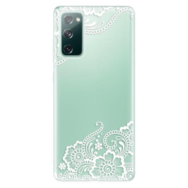 Odolné silikonové pouzdro iSaprio - White Lace 02 - Samsung Galaxy S20 FE