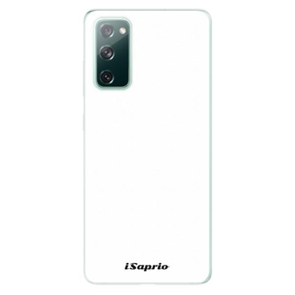 Odolné silikonové pouzdro iSaprio - 4Pure - bílý - Samsung Galaxy S20 FE