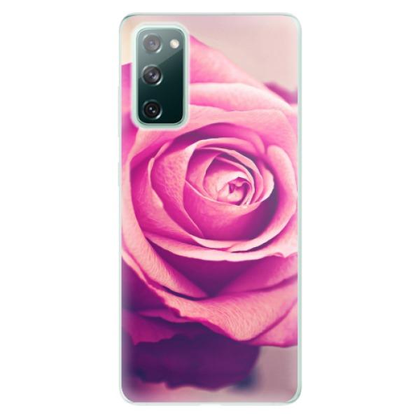 Odolné silikonové pouzdro iSaprio - Pink Rose - Samsung Galaxy S20 FE
