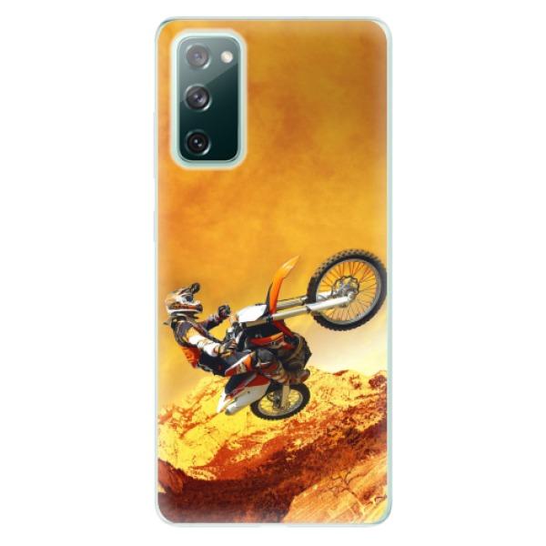 Odolné silikonové pouzdro iSaprio - Motocross - Samsung Galaxy S20 FE